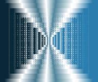 Données binaires de Digital sur le fond bleu et blanc de gradient Moderne, la science, technologie, ordinateur de virus, entailla illustration stock