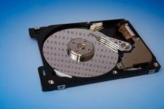 Données binaires sur un disque dur Image libre de droits
