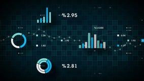 données commerciales 4K dépistant le bleu illustration stock