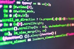 Données de code informatique Optimisation de SEO Code source de logiciel image libre de droits