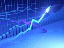 données de finances Images libres de droits
