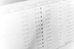 Données de peu abstraites d'ordinateur de graphique de finances. Images stock
