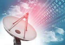 Données de transmission d'antenne parabolique Photo stock