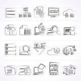 Données et icônes d'analytics Photographie stock libre de droits