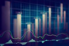 Données financières de marché boursier Graphique de marché boursier, marché boursier Photo libre de droits