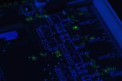 Données numériques de carte mère d'ingénierie de l'électronique Photographie stock libre de droits