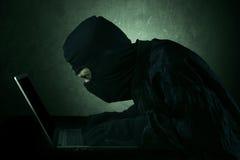Données utilisateur de accès de pirate informatique photos libres de droits