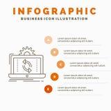 donn?es, traitement, analyse, reportage, calibre d'Infographics de synchronisation pour le site Web et pr?sentation r illustration de vecteur