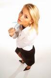 Donna 13 di affari Fotografia Stock