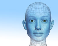 donna 3D Fotografia Stock Libera da Diritti