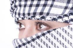 Donna abbastanza araba Fotografia Stock