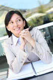 Donna abbastanza asiatica di affari dei giovani Fotografie Stock