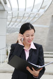 Donna abbastanza cinese di affari Fotografia Stock Libera da Diritti