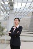Donna abbastanza cinese di affari Fotografie Stock Libere da Diritti