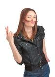 Donna abbastanza giovane che imbroglia intorno Immagine Stock Libera da Diritti