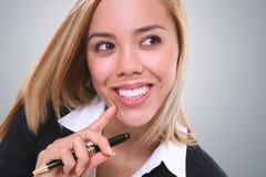 Donna abbastanza giovane di affari fotografia stock