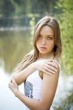 Donna abbastanza giovane sexy Fotografie Stock