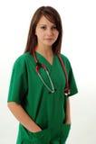 Donna abbastanza medica fotografia stock libera da diritti