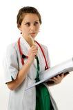 Donna abbastanza medica fotografia stock