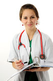 Donna abbastanza medica Fotografie Stock