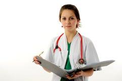 Donna abbastanza medica fotografie stock libere da diritti