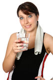 Donna in abbigliamento di sport Immagini Stock