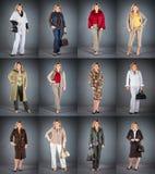 Donna ad un'età matura in vestiti differenti Immagini Stock Libere da Diritti