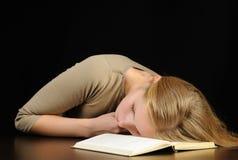 Donna addormentata Immagini Stock