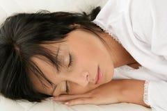 Donna addormentata Immagine Stock