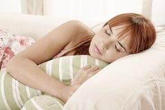 Donna addormentata Immagini Stock Libere da Diritti