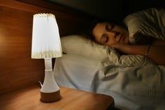 Donna addormentata Fotografie Stock Libere da Diritti