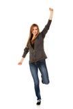 Donna adolescente con la mano su Fotografia Stock Libera da Diritti