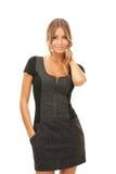 Donna adorabile in vestito elegante Fotografia Stock