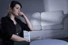 Donna affranta dopo il disfacimento Immagini Stock