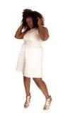 Donna africana con capelli sudici Fotografie Stock Libere da Diritti