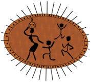 Donna africana con i bambini royalty illustrazione gratis