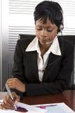 Donna africana di affari immagini stock libere da diritti