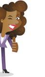 Donna africana di affari con i pollici su royalty illustrazione gratis