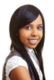 Donna africana soddisfatta Fotografie Stock Libere da Diritti
