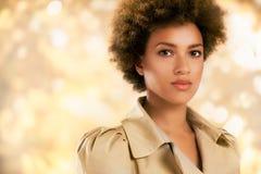 Donna afroamericana alla moda Fotografie Stock