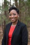 Donna afroamericana ben vestito Fotografia Stock Libera da Diritti