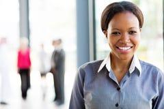 Donna afroamericana di affari Fotografie Stock Libere da Diritti