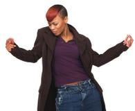 Donna afroamericana felice che gode della vita Immagini Stock Libere da Diritti