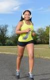 Donna afroamericana sexy - forma fisica Immagine Stock Libera da Diritti