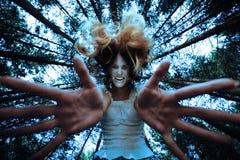 Donna aggressiva Fotografia Stock