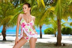 Donna ai Maldives Fotografia Stock