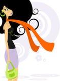 Donna alla moda 2 Immagini Stock Libere da Diritti