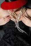Donna alla moda Immagini Stock