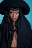 Donna alla moda in cappello Fotografia Stock Libera da Diritti