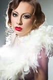 Donna alla moda con volto di arte Fotografia Stock